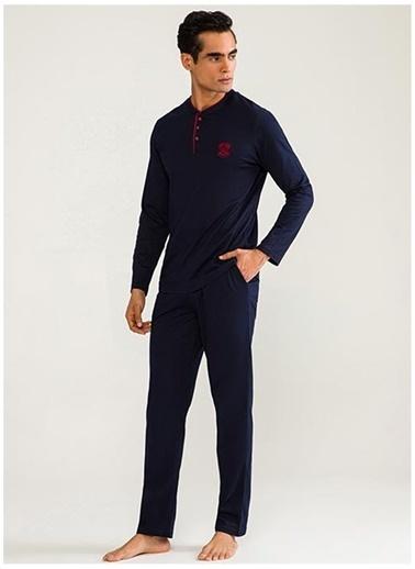 D'S Damat Ds Damat DS1005 Kiremit Erkek Pijama Takımı Kiremit